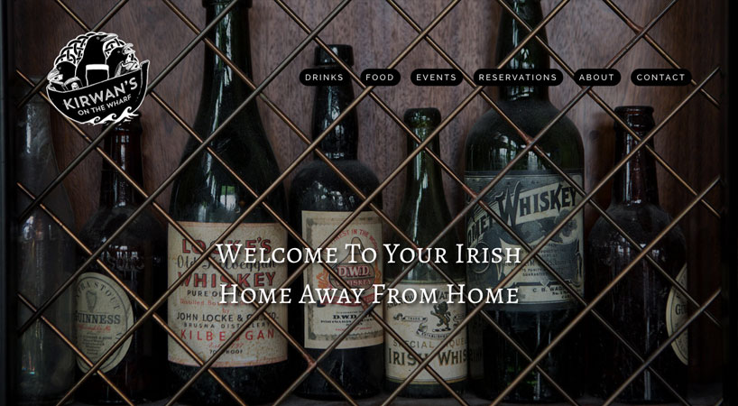 Kirwan's On The Wharf Website